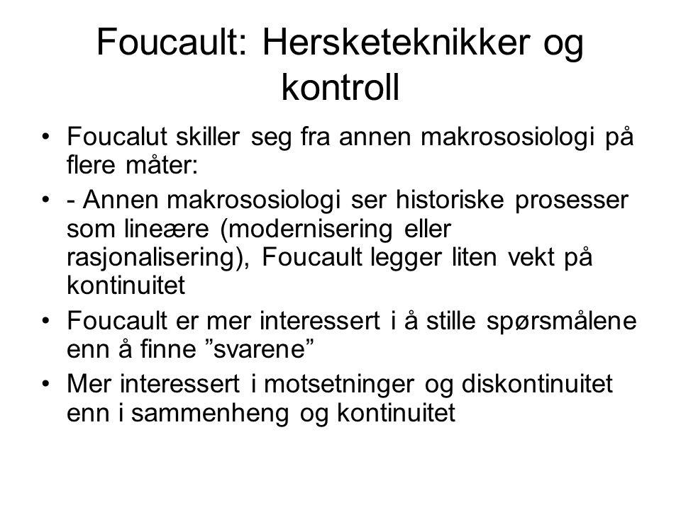 Foucault: Hersketeknikker og kontroll