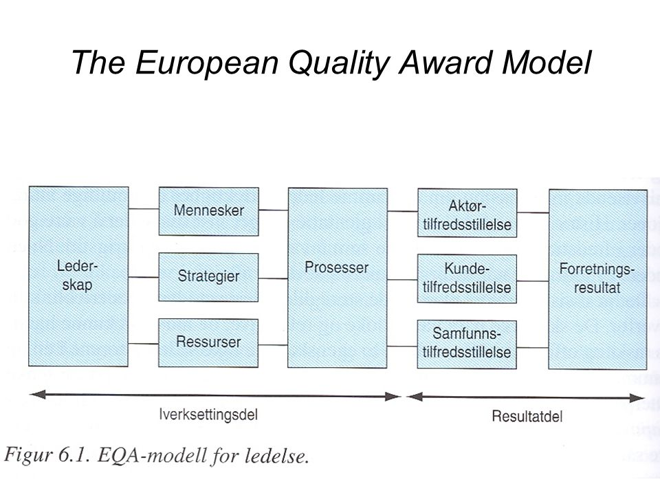 The European Quality Award Model