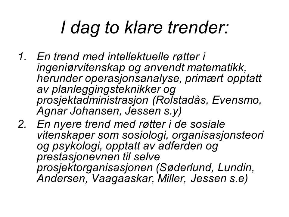 I dag to klare trender:
