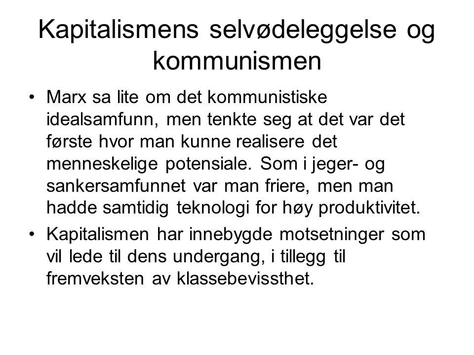 Kapitalismens selvødeleggelse og kommunismen