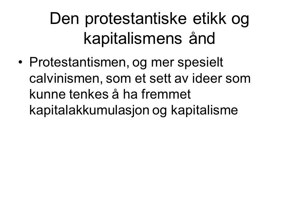 Den protestantiske etikk og kapitalismens ånd