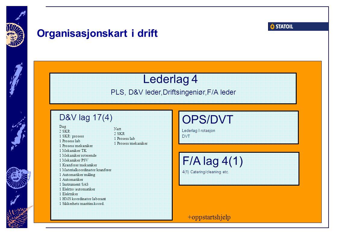 Organisasjonskart i drift