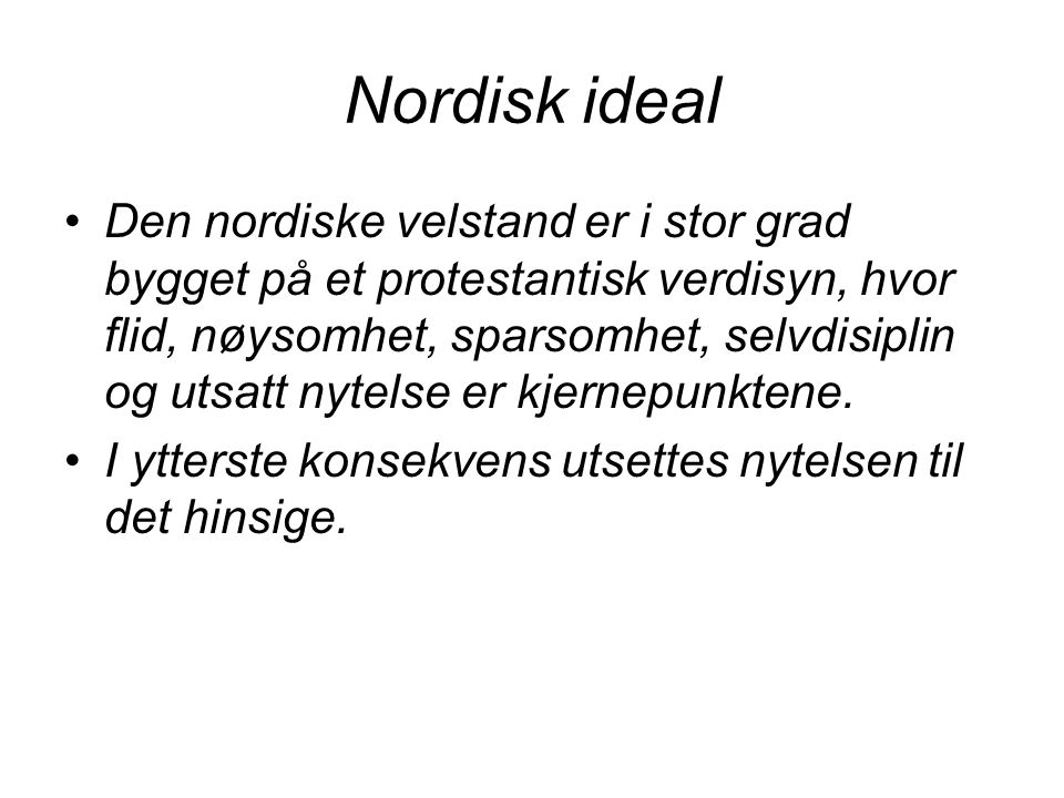 Nordisk ideal