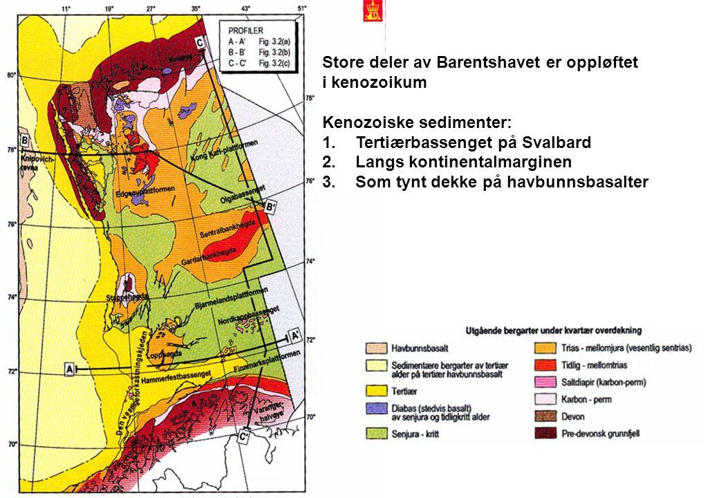 Store deler av Barentshavet er oppløftet
