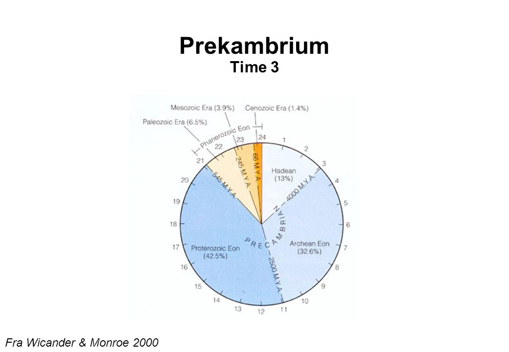 Prekambrium Time 3 Fra Wicander & Monroe 2000