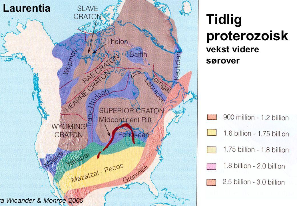 Tidlig proterozoisk vekst videre sørover
