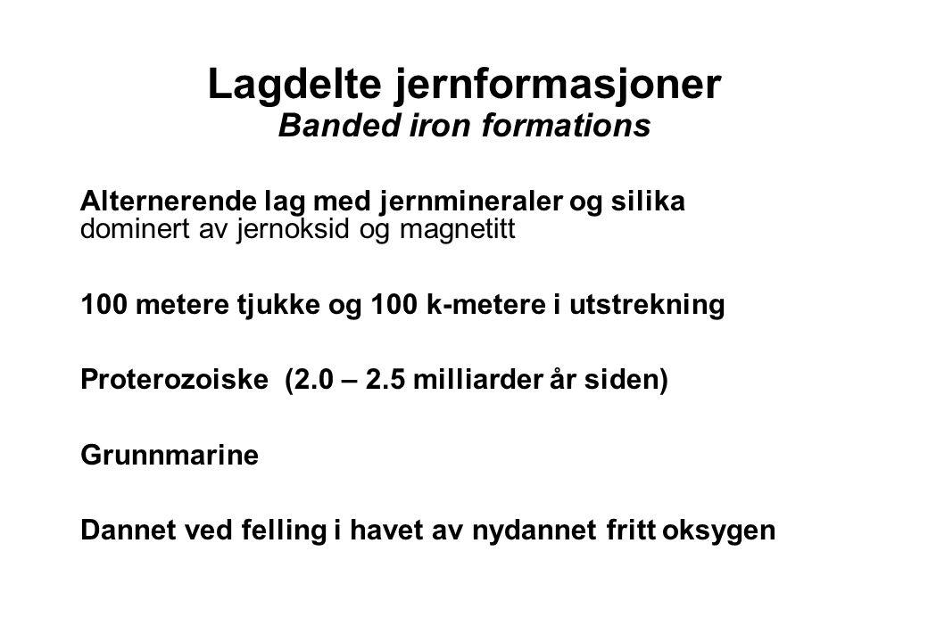 Lagdelte jernformasjoner Banded iron formations
