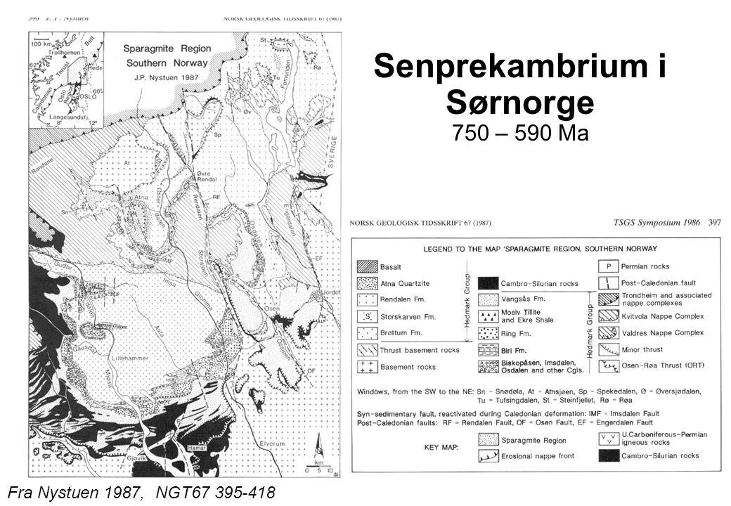 Senprekambrium i Sørnorge 750 – 590 Ma