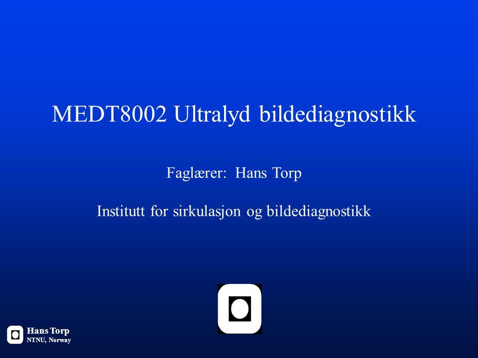 MEDT8002 Ultralyd bildediagnostikk