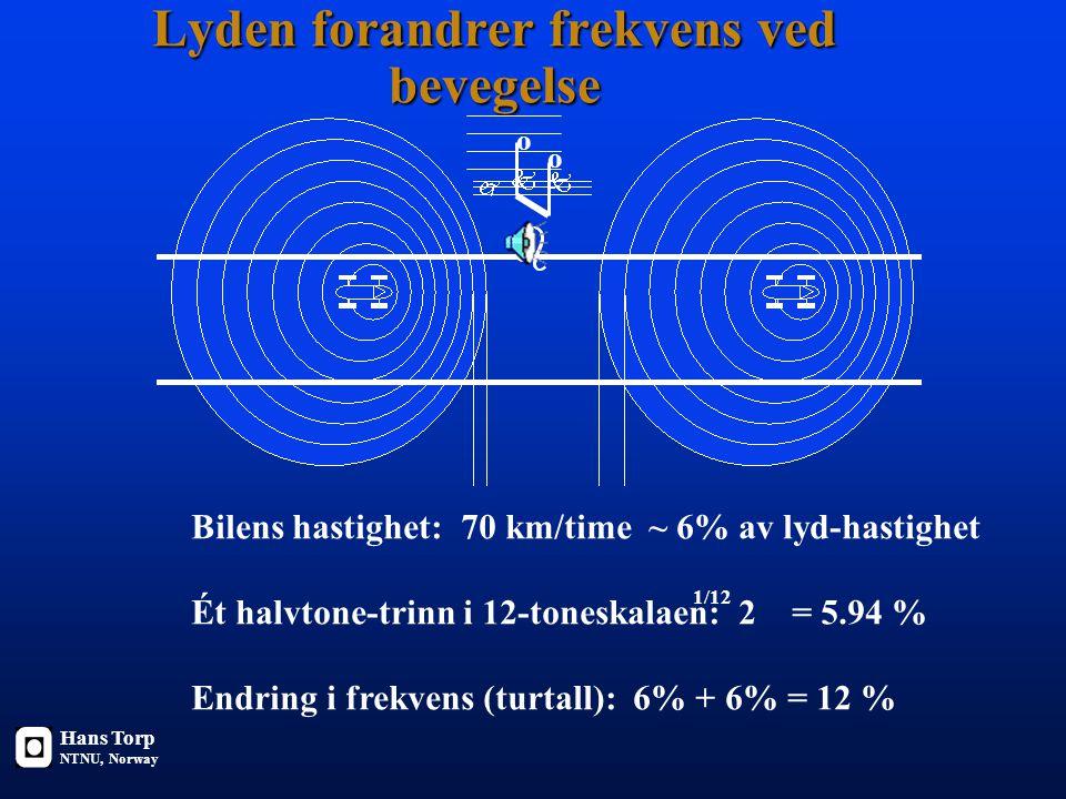 Lyden forandrer frekvens ved bevegelse