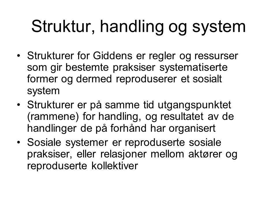 Struktur, handling og system