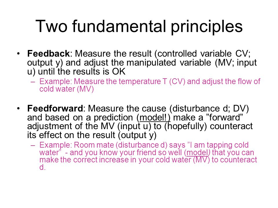 Two fundamental principles