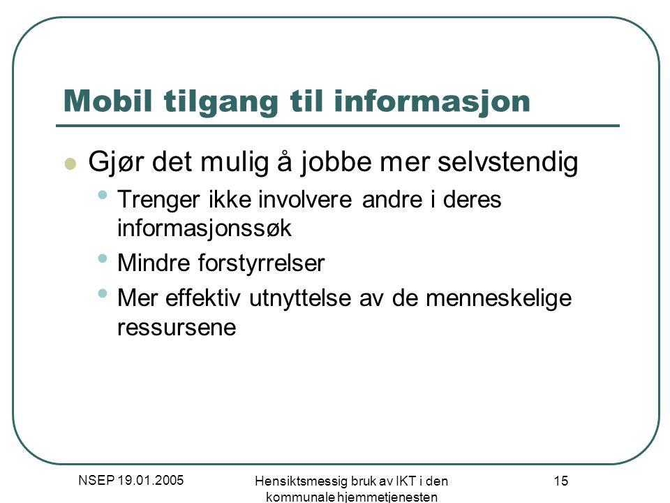 Mobil tilgang til informasjon