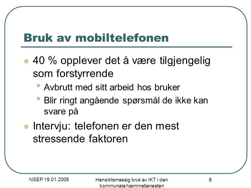 Bruk av mobiltelefonen