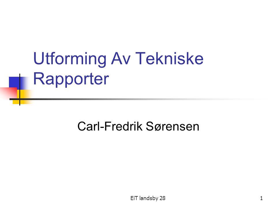 Utforming Av Tekniske Rapporter