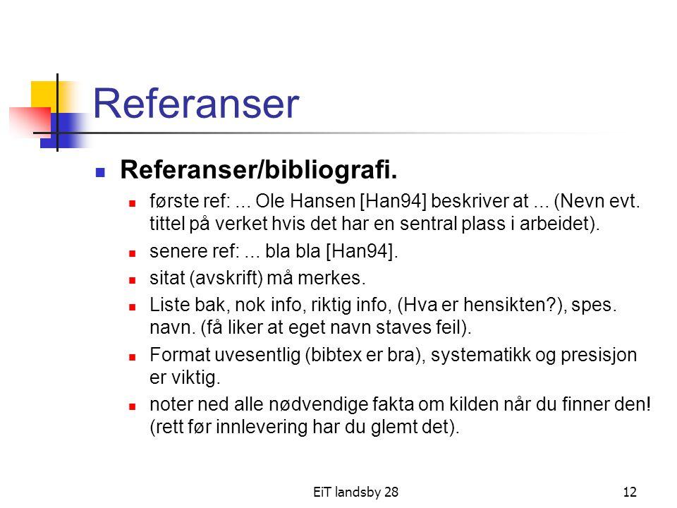 Referanser Referanser/bibliografi.