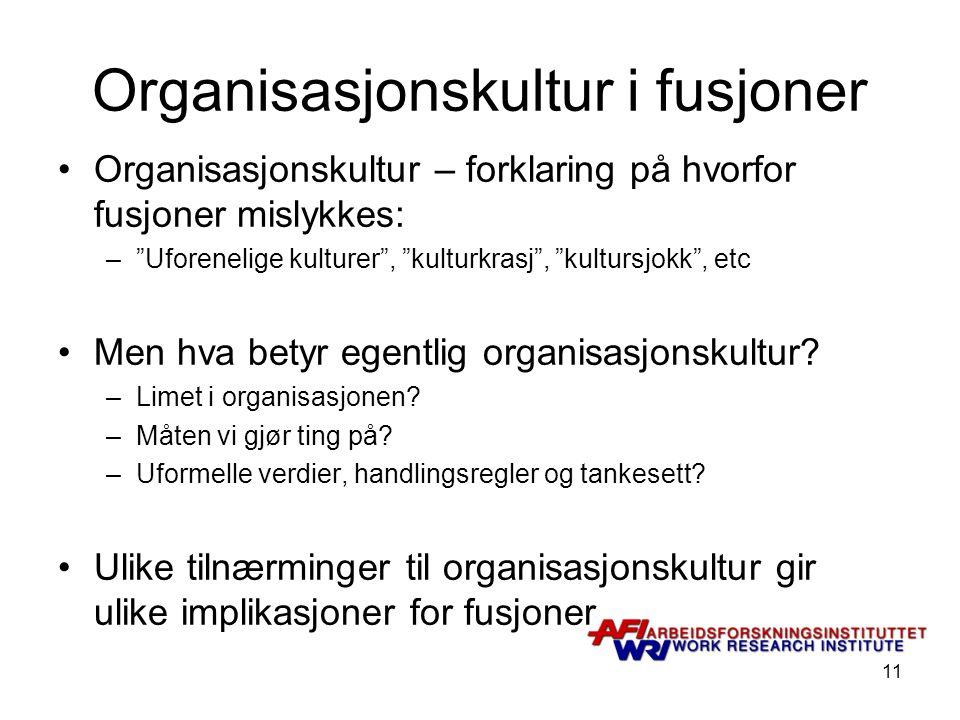 Organisasjonskultur i fusjoner
