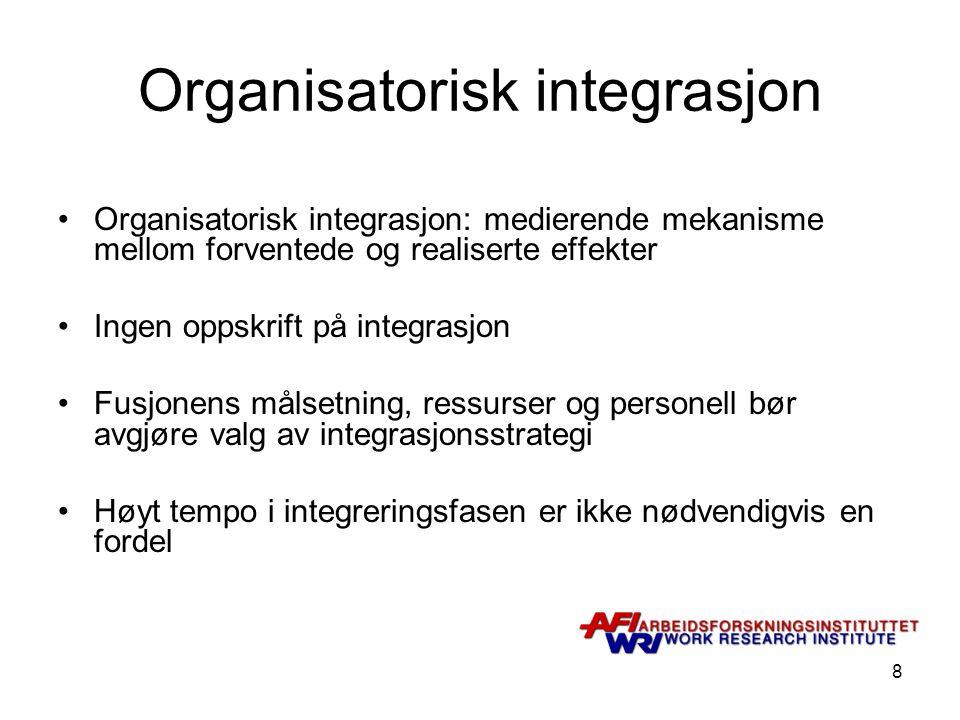 Organisatorisk integrasjon