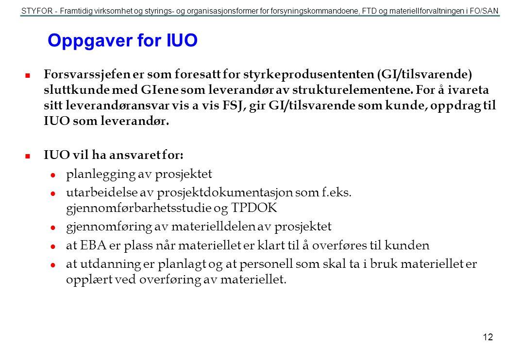 Oppgaver for IUO