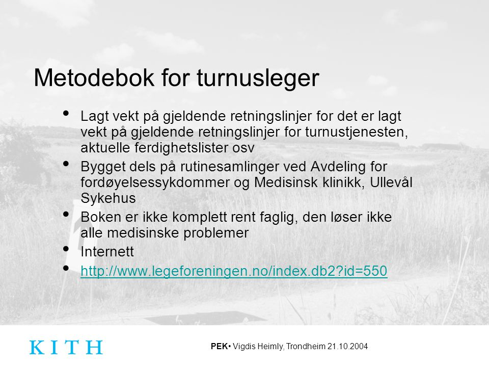 Metodebok for turnusleger