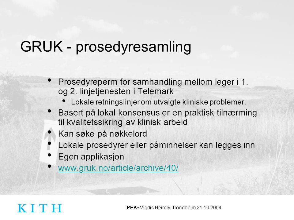 GRUK - prosedyresamling