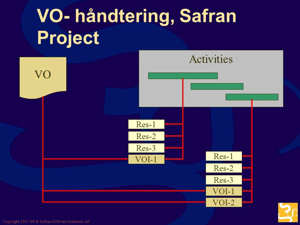 VO- håndtering, Safran Project