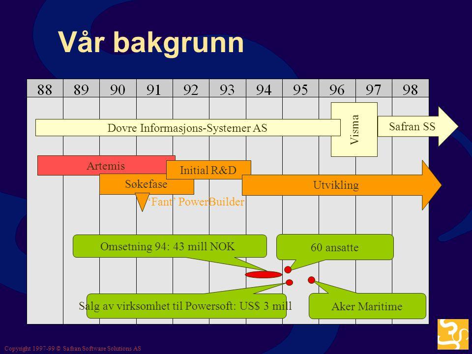 Vår bakgrunn Visma Safran SS Dovre Informasjons-Systemer AS Artemis