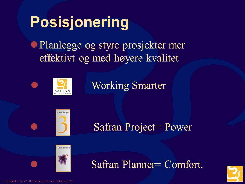 * 07/16/96. Posisjonering. Planlegge og styre prosjekter mer effektivt og med høyere kvalitet. Working Smarter.