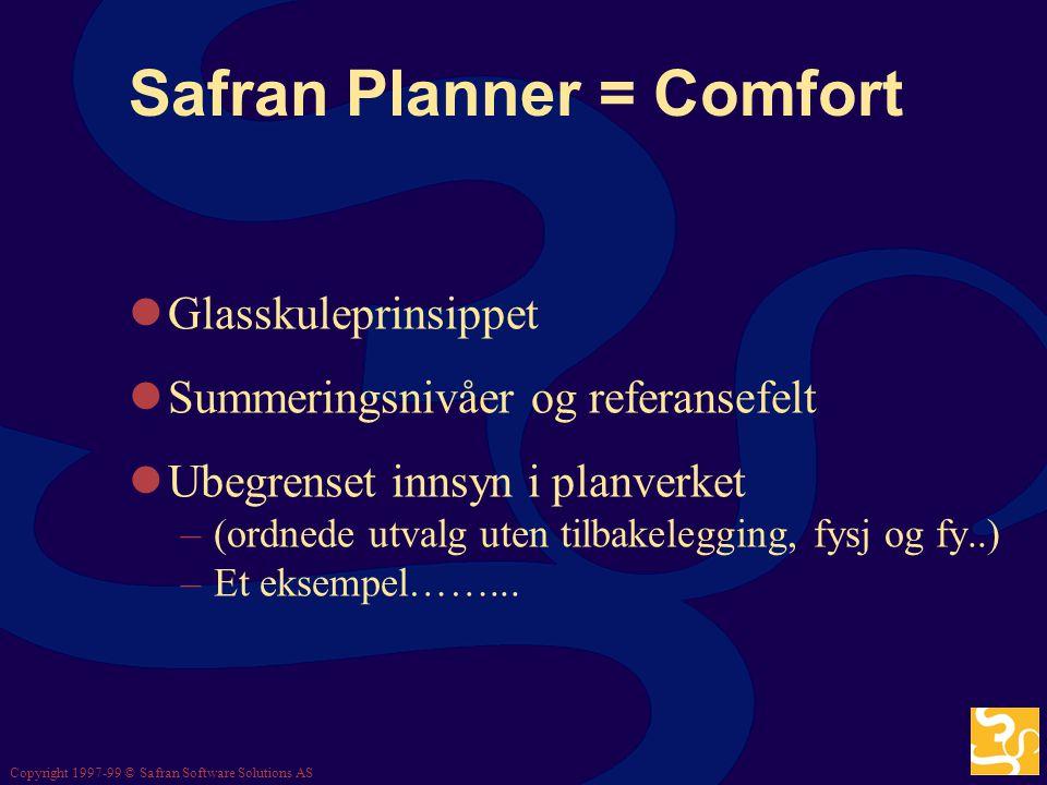 Safran Planner = Comfort