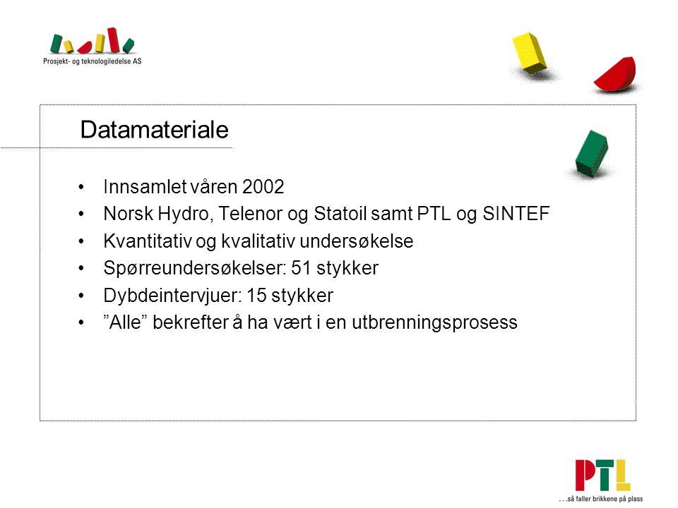 Datamateriale Innsamlet våren 2002