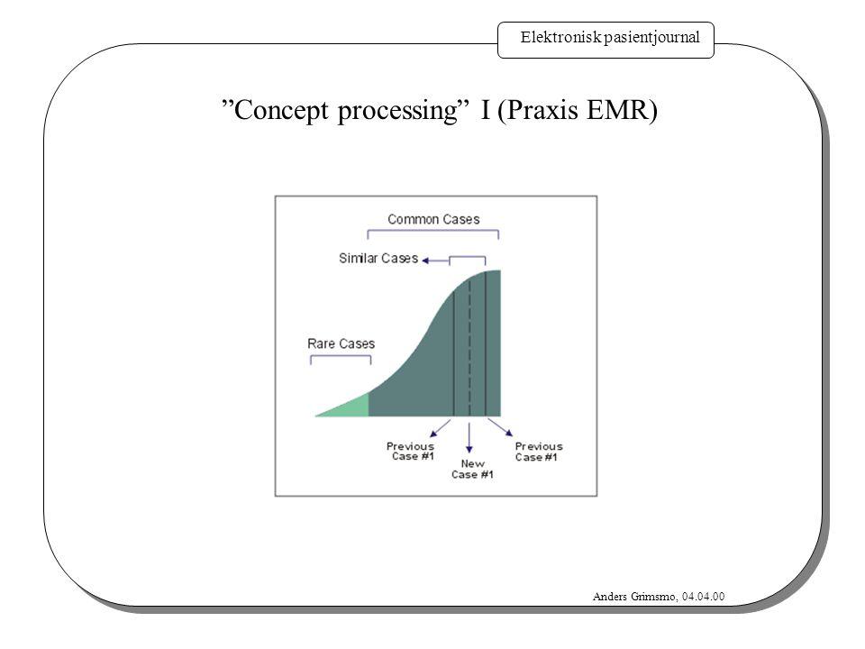 Concept processing I (Praxis EMR)