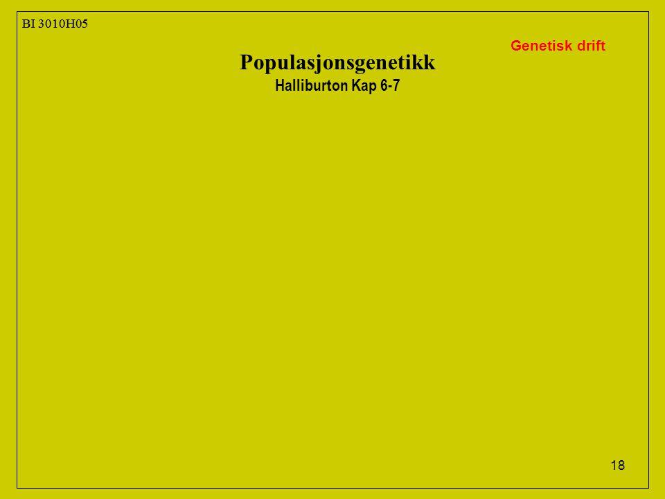 Populasjonsgenetikk Halliburton Kap 6-7 Genetisk drift BI 3010H05