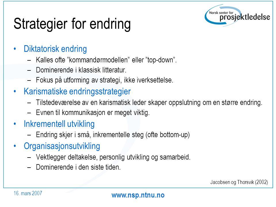 Strategier for endring