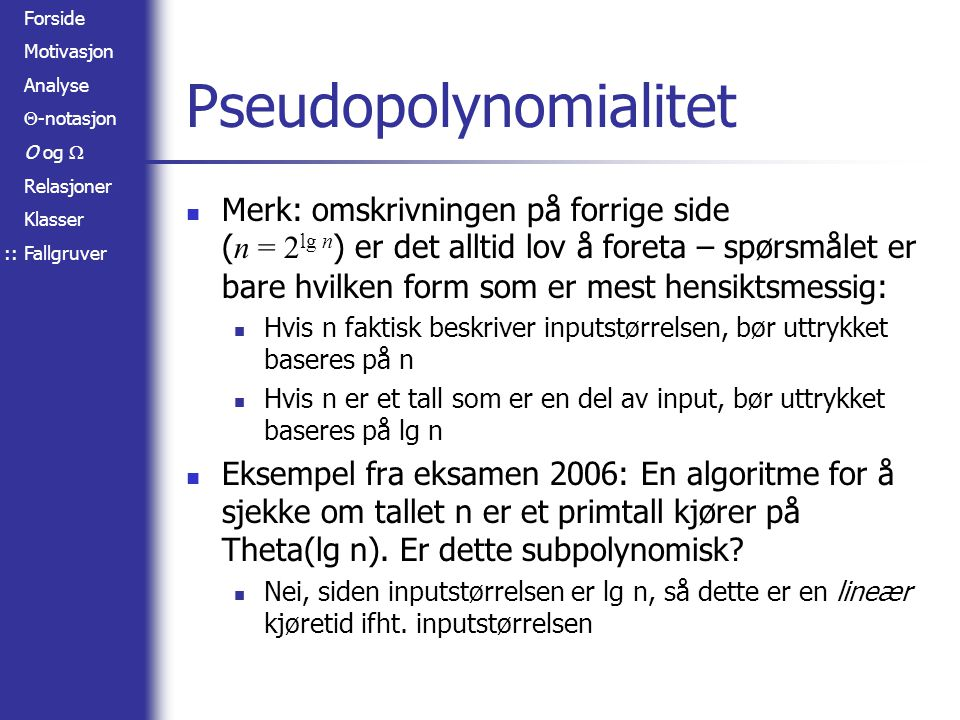 Pseudopolynomialitet