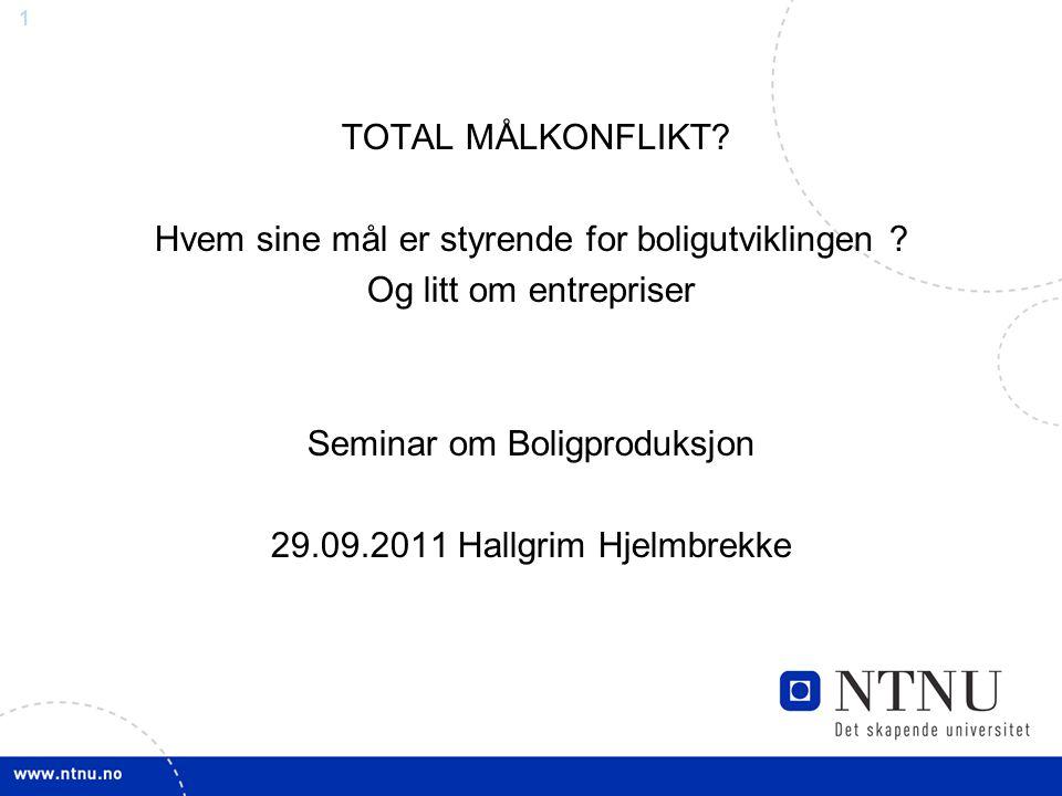 NTNU Title slide TOTAL MÅLKONFLIKT