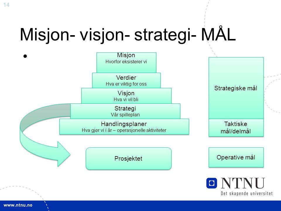 Misjon- visjon- strategi- MÅL