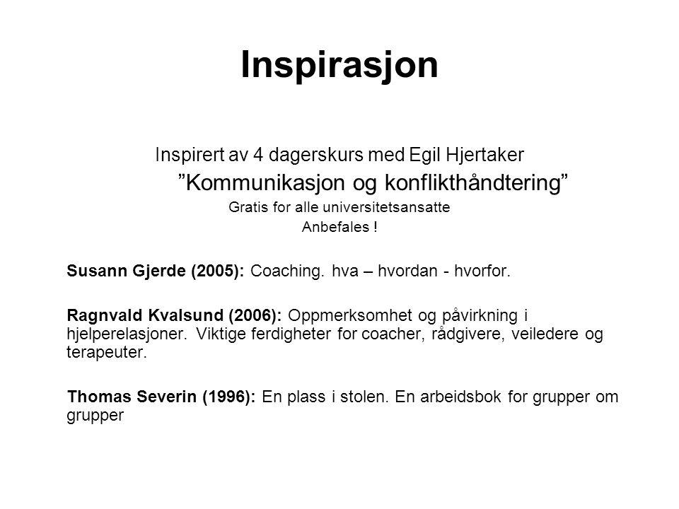 Inspirasjon Kommunikasjon og konflikthåndtering