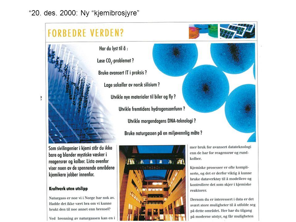 20. des. 2000: Ny kjemibrosjyre