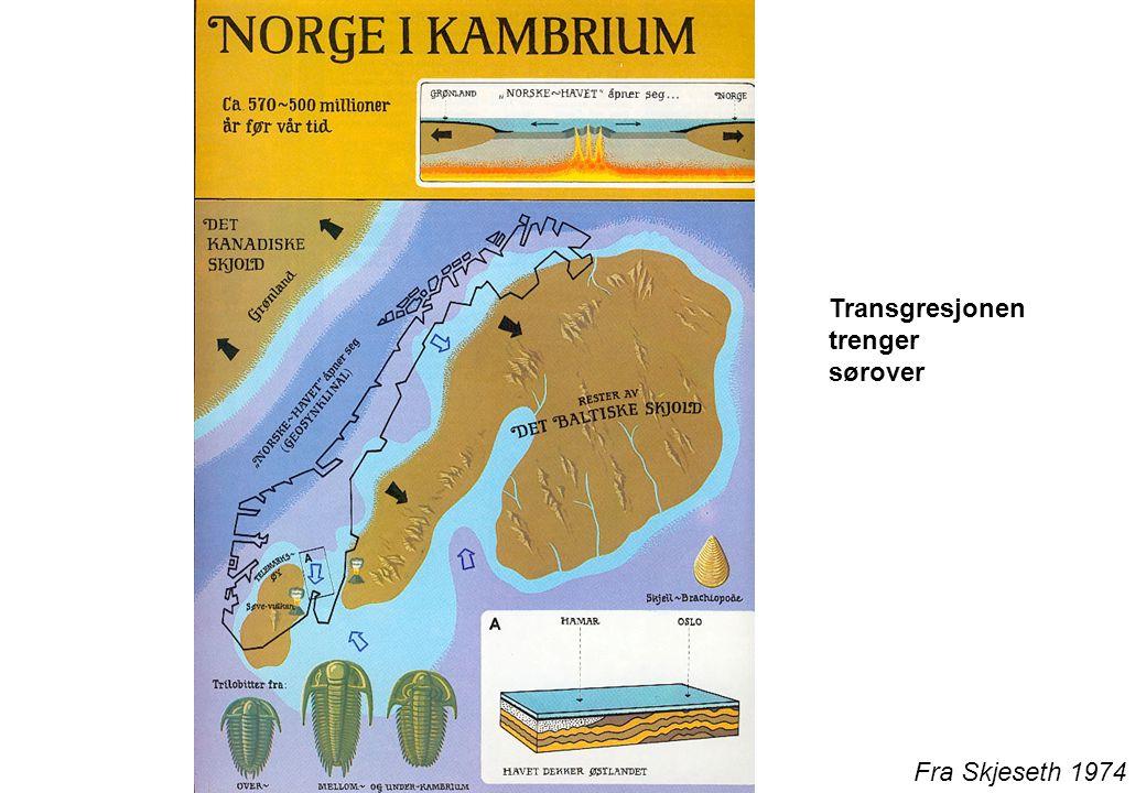 Transgresjonen trenger sørover Fra Skjeseth 1974