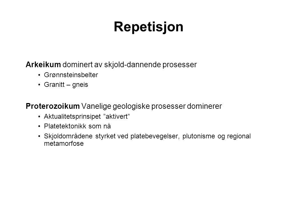 Repetisjon Arkeikum dominert av skjold-dannende prosesser