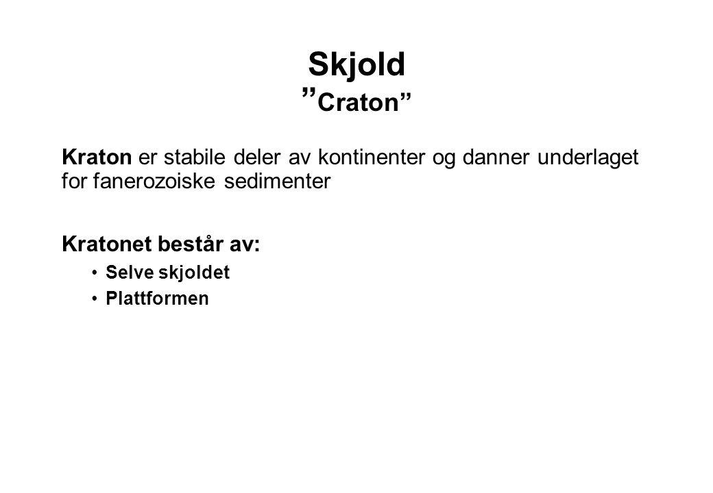 Skjold Craton Kraton er stabile deler av kontinenter og danner underlaget for fanerozoiske sedimenter.