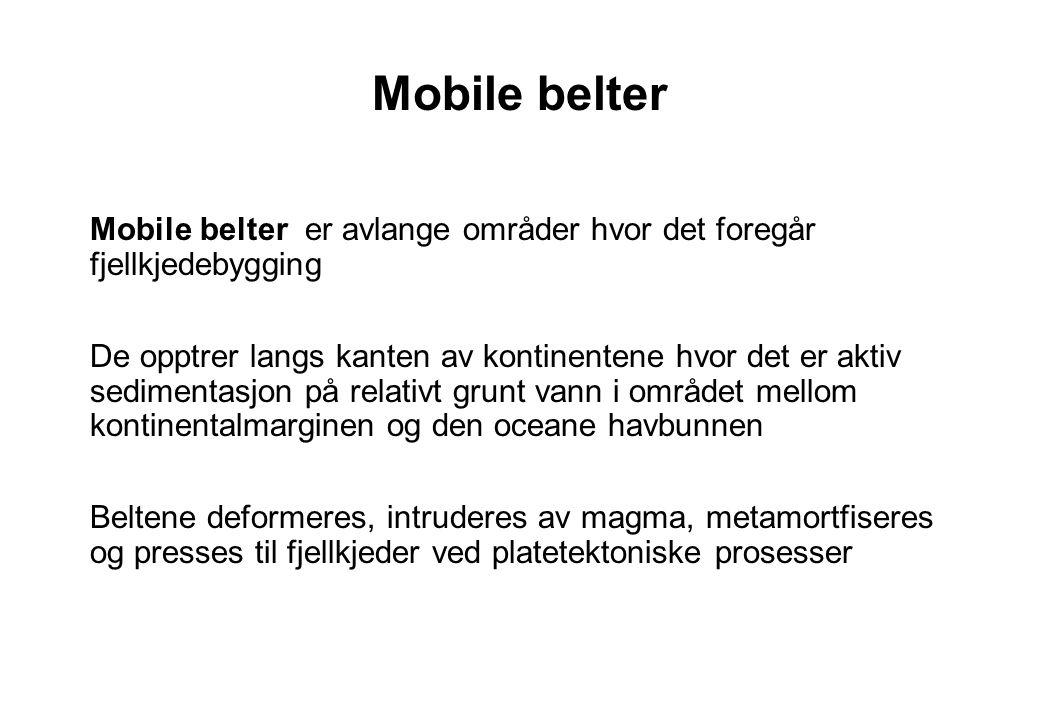Mobile belter Mobile belter er avlange områder hvor det foregår fjellkjedebygging.