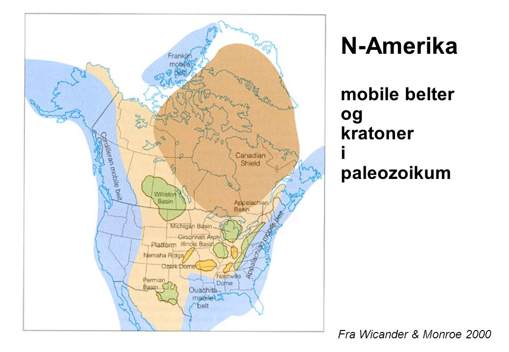 N-Amerika mobile belter og kratoner i paleozoikum