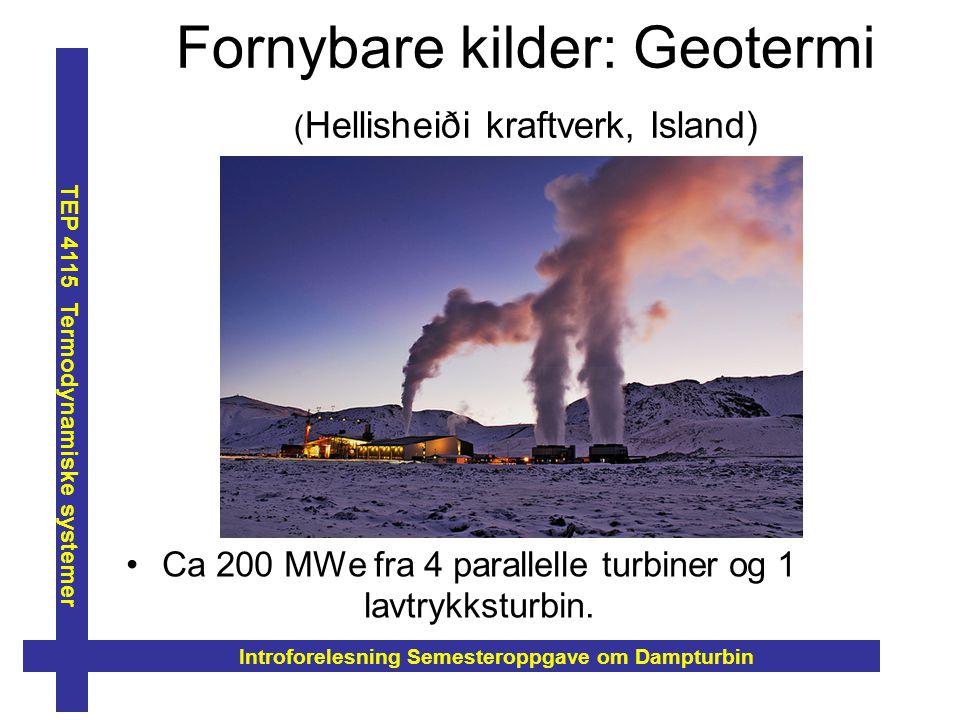 Fornybare kilder: Geotermi (Hellisheiði kraftverk, Island)