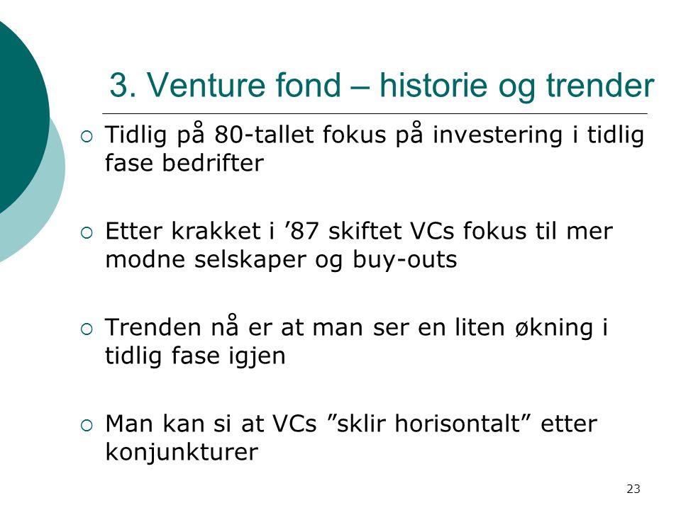 3. Venture fond – historie og trender