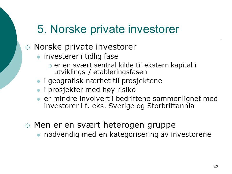 5. Norske private investorer