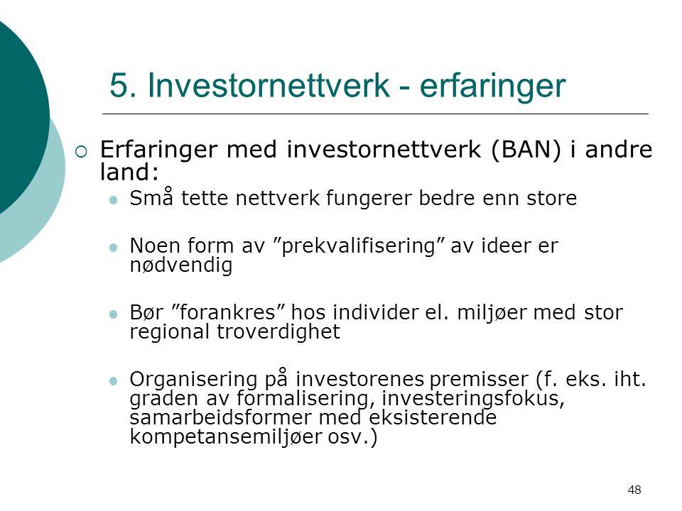 5. Investornettverk - erfaringer