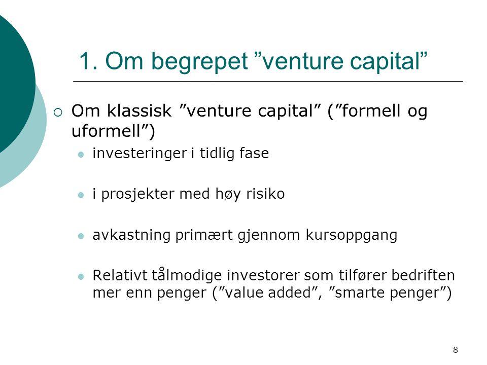 1. Om begrepet venture capital