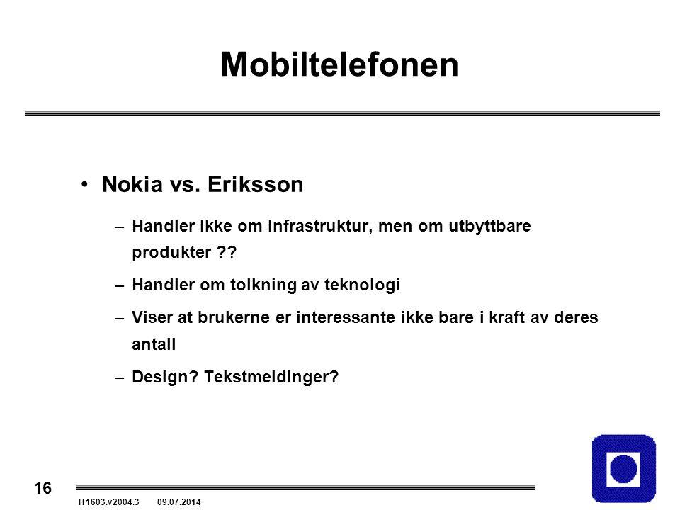 Mobiltelefonen Nokia vs. Eriksson