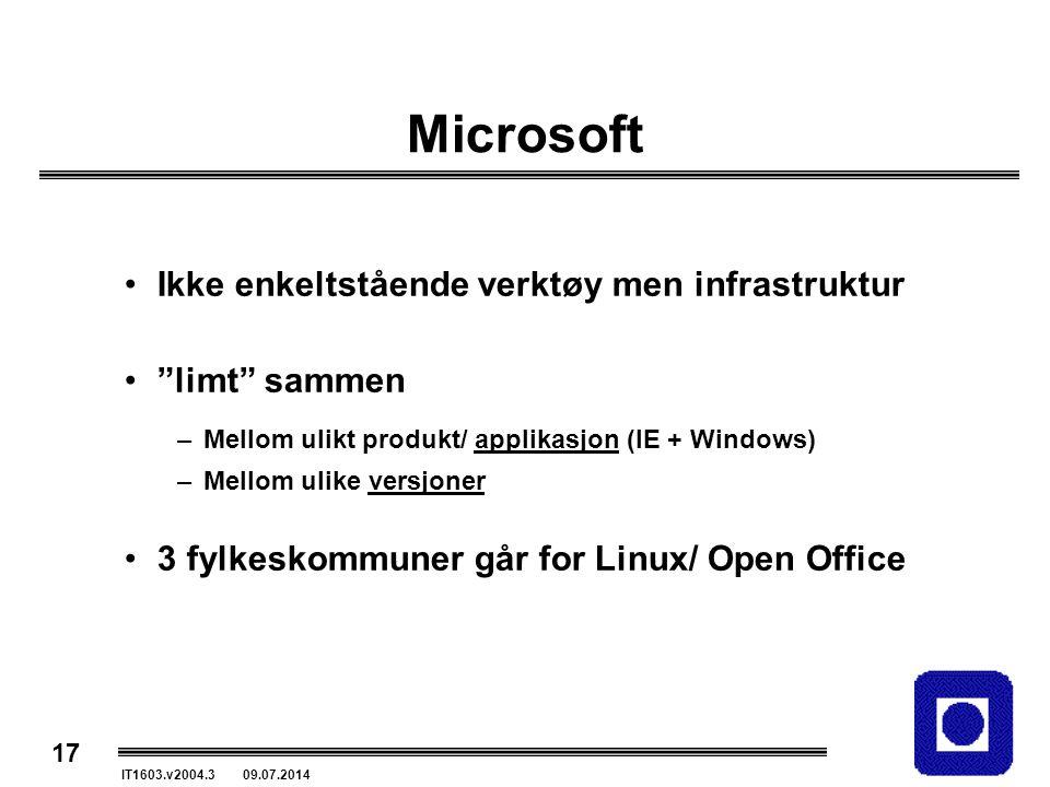 Microsoft Ikke enkeltstående verktøy men infrastruktur limt sammen